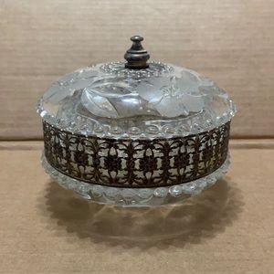 Vintage Italian Glass Trinket Box